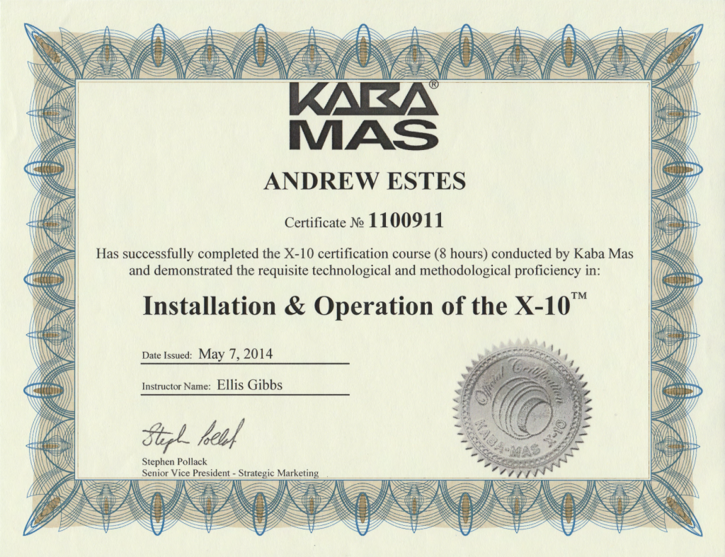 X-10 Certification